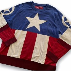 Marvel   Captain America Crewneck Sweatshirt XXL